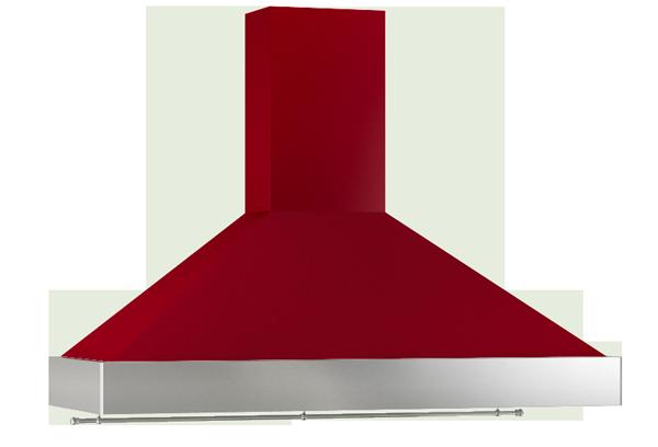Campana extractora KA rojo inox