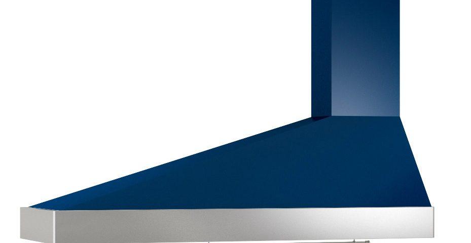 Campana extractora KD azul inox