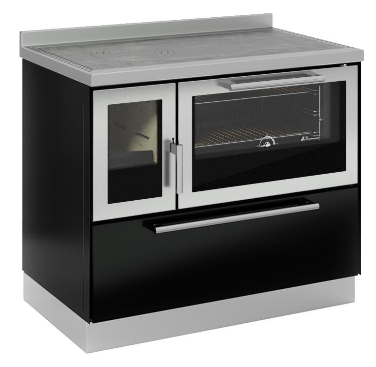 Classica-F100-negro-puerta-inox