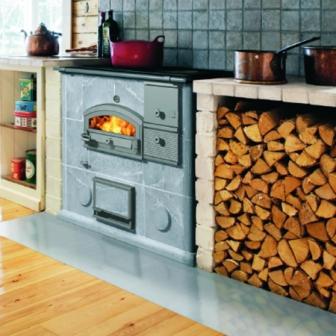 Tulikivi cocina de leña LLU 1250 ambiente