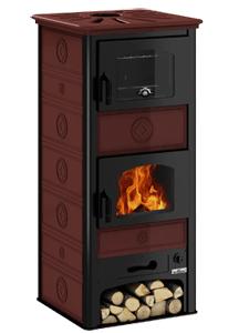 Estufa con horno De Manincor S60F color burdeos
