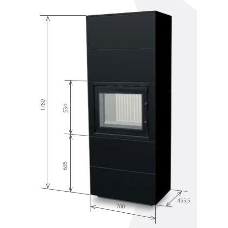 Medidas de la estufa 60B (2+2)
