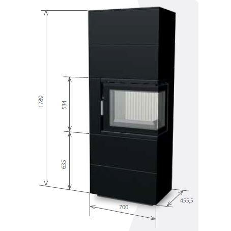 Medidas de la estufa 60B CG (2+2)